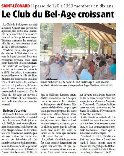 Article Nouvelliste 24.06.2013