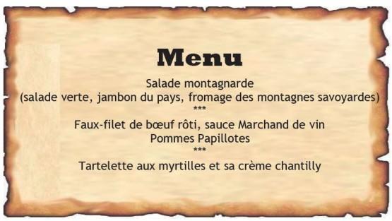 Menu Chamonix