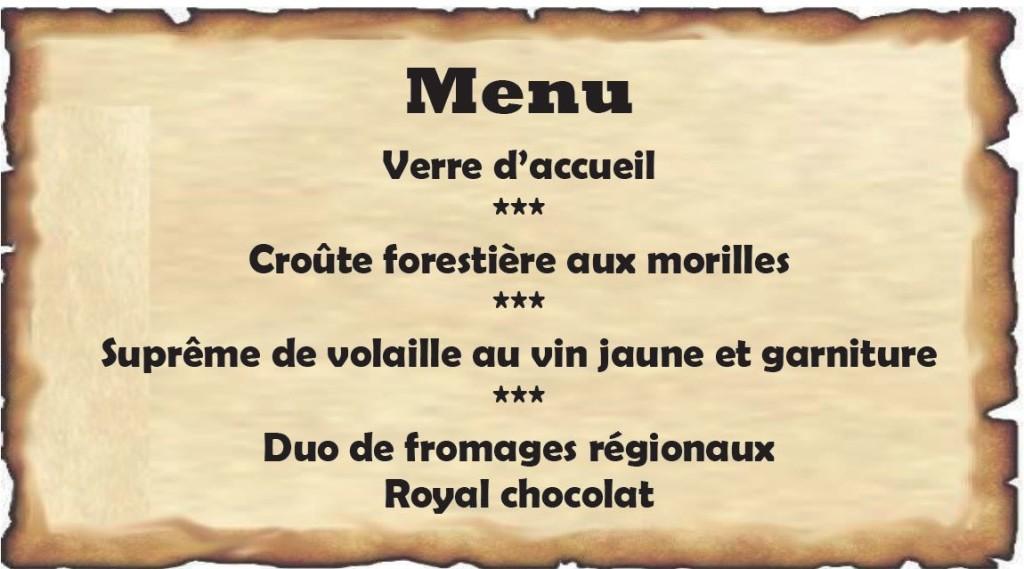 Menu Croisière duDoubs